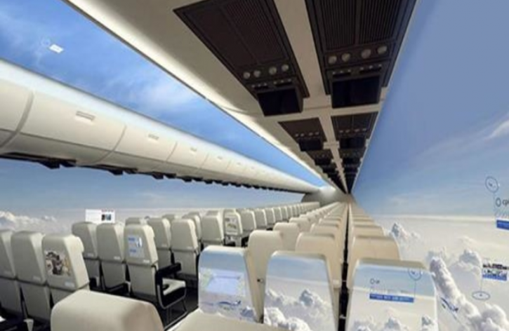 Самолеты без окон! Новая реальность совсем скоро!